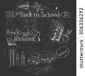 set of back to school... | Shutterstock . vector #306336293