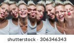 portraits with different... | Shutterstock . vector #306346343