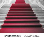 red carpet on a stairway used... | Shutterstock . vector #306348263