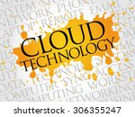 cloud technology word cloud... | Shutterstock .eps vector #306355247