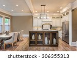 beautiful kitchen and dining... | Shutterstock . vector #306355313