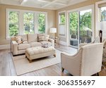 beautiful living room with... | Shutterstock . vector #306355697