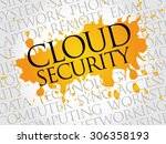cloud security word cloud... | Shutterstock .eps vector #306358193