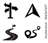 directions vector icons | Shutterstock .eps vector #306367697