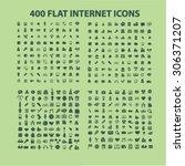 400 business  media  technology ... | Shutterstock .eps vector #306371207