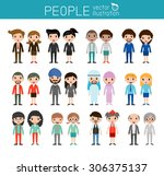 people characters  large group... | Shutterstock .eps vector #306375137