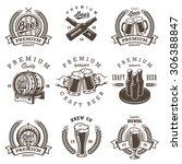 set of vintage beer brewery... | Shutterstock .eps vector #306388847