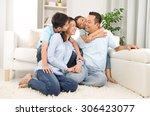 indoor portrait of asian mixed... | Shutterstock . vector #306423077