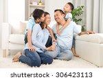 indoor portrait of asian mixed... | Shutterstock . vector #306423113