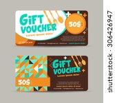 vector illustration gift... | Shutterstock .eps vector #306426947