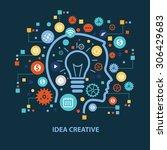 idea creative concept design on ... | Shutterstock .eps vector #306429683