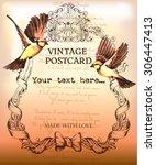 vintage postcard background... | Shutterstock .eps vector #306447413