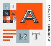 diagonal lines beveled modern... | Shutterstock .eps vector #306474923