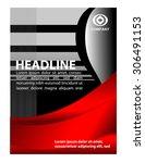 creative flyer red color  | Shutterstock .eps vector #306491153