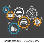 abstract vector illustration of ... | Shutterstock . vector #306492197