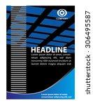 vector business brochure  flyer ...   Shutterstock .eps vector #306495587