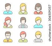 people userpics icons in line... | Shutterstock .eps vector #306509357