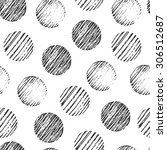 seamless pattern with circles... | Shutterstock .eps vector #306512687