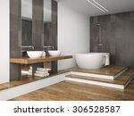 interior of  bathroom with... | Shutterstock . vector #306528587