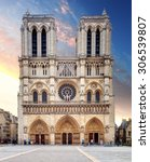 notre dame cathedral   paris | Shutterstock . vector #306539807