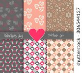 sweet valentine's day pattern... | Shutterstock .eps vector #306544127