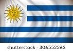 flag of uruguay   vector... | Shutterstock .eps vector #306552263