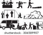 terrorism and destruction icon... | Shutterstock .eps vector #306589907
