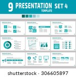 set of multipurpose business... | Shutterstock .eps vector #306605897