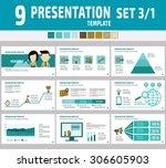 set of multipurpose business... | Shutterstock .eps vector #306605903