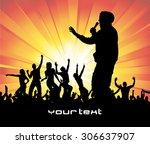poster for music concert.   Shutterstock .eps vector #306637907