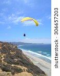 Para Glider Over California...
