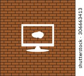 cloud. icon. vector design | Shutterstock .eps vector #306663413