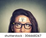 young woman has a good idea | Shutterstock . vector #306668267