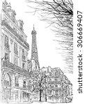 Paris.ssketch Of Parisian...