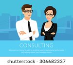 professional business man and... | Shutterstock .eps vector #306682337
