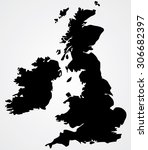 map of united kingdom | Shutterstock .eps vector #306682397