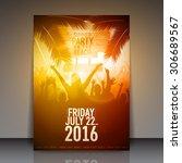 summer beach party flyer  ... | Shutterstock .eps vector #306689567
