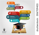 education business infographic. | Shutterstock .eps vector #306709403