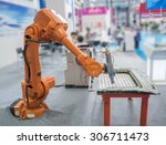 robotic hand machine tool at... | Shutterstock . vector #306711473