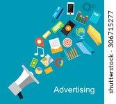 advertising concept... | Shutterstock .eps vector #306715277