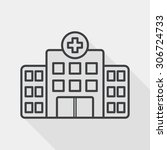 building hospital flat icon... | Shutterstock . vector #306724733