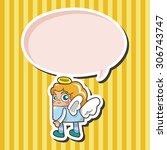 angel  cartoon speech icon   Shutterstock . vector #306743747