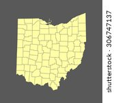 map of ohio | Shutterstock .eps vector #306747137