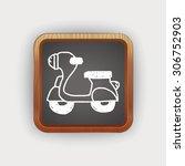 doodle motorbike | Shutterstock .eps vector #306752903