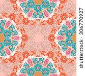 seamless pattern ethnic style.... | Shutterstock .eps vector #306770927