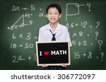 asian schoolboy in uniform...   Shutterstock . vector #306772097
