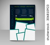 business brochure. editable a4... | Shutterstock .eps vector #306810923