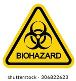 caution biohazard sign | Shutterstock .eps vector #306822623