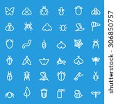 insect icon set  simple and...