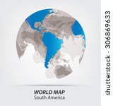 world map vector illustration | Shutterstock .eps vector #306869633